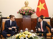Deputy PM Pham Binh Minh receives Lithuanian interior minister