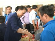 Top legislator attends Tet gathering in Binh Duong