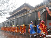 Neu pole erection ceremony reenacted at Hue Imperial Citadel