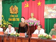 NA Chairwoman pays Tet visit to Ben Tre's police, border guard