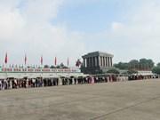 Over 47,000 people visit Ho Chi Minh Mausoleum during Tet