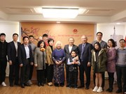 Vietnam embassy in RoK holds exchange with coach Park Hang-seo