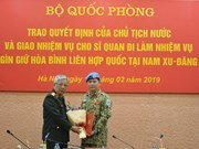 Vietnamese officer assigned peacekeeping duty in South Sudan