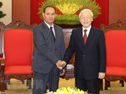 Top leader welcomes Lao Minister of Public Security