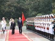 Argentine President welcomed in Vietnam