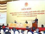 Wood, forestry exports must surpass 11 billion USD in 2019: PM