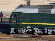 DPRK Chairman's train arrives in China en route to Vietnam