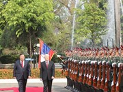 Lao media highlights Vietnamese top leader's visit