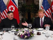 US, DPRK leaders have dinner following talks