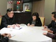 Kim Jong-un works with top DPRK negotiators