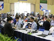 Media in race for latest news on DPRK-USA Hanoi Summit