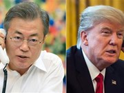 Trump calls RoK leader on summit outcomes