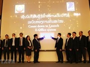 Vietnamese telecom group helps Laos apply E-Office system