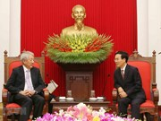 Party official welcomes Singaporean Deputy PM