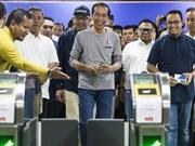 Indonesia inaugurates first MRT in Jakarta