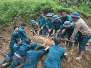 War-time shells detonated in Quang Tri province