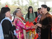NA leader meets Vietnamese embassy staff, community in Morocco