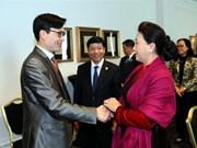 NA leader meets organisers of Vietnam Global Leaders Forum in Paris