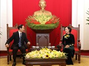 Party official receives Soong Ching Ling Foundation leader