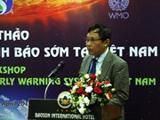 Workshop discusses early disaster warning system in Vietnam