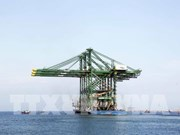 Three made-in-Vietnam giant cranes shipped to India