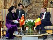 Vietnamese NA Chairwoman meets Belgian lower house leader