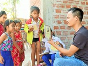 Pa Ko man sows seeds of art among mountainous children