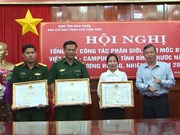 Binh Phuoc finishes building auxiliary border markers with Cambodia