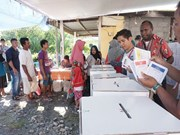 Indonesian election: polling organisers, police in Papua attacked