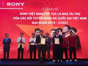 Sony to continue sponsorship for national football teams