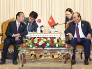 PM meets Japanese ruling party chief on BRF sidelines