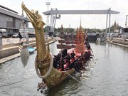 Thailand: Royal coronation drone show; barges for public viewing