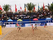 Int'l female beach volleyball tournament kicks off in Quang Ninh