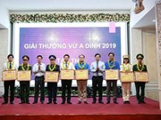 Ceremony marks 10 years of Vu A Dinh Award