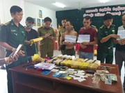 Three Laos arrested for trafficking drugs into Vietnam