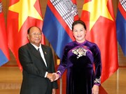 Top Vietnamese, Cambodian legislators hold talks