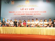 Korean firms in Hai Phong sign collective bargaining agreement