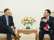 Deputy PM Vuong Dinh Hue receives Nike Vice Chairman