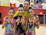 Rhythmic gymnasts win two golds at Singapore Open