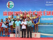 Tam Ky team triumphs at int'l women's beach volleyball tourney