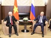 Vietnamese, Russian leaders exchange greetings on friendship ties