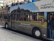 Indonesia promotes tourism on buses in Russia