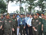 Cambodian military officers visit Binh Phuoc province