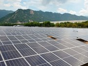 Another solar power plant generates electricity