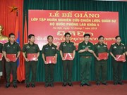 Fourth military strategy course for Lao army concludes