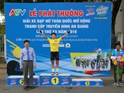 Korean cyclist wins third leg of An Giang TV cup's women tournament