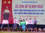 Phu Yen's Tay Hoa district recognised as new-style rural area