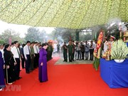 Tay Ninh ceremony lays martyrs' remains from Cambodia to rest