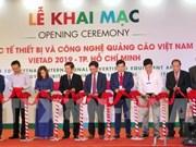 Vietnam int'l ads equipment exhibition underway in HCM City