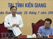 Ministry inspects aquatic, fishing activities in Kien Giang
